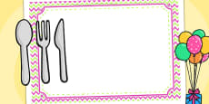 Zig Zag Birthday Party Place Mats Pink And Green