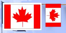 Canada Flag Display Bunting