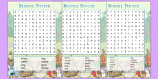 Beatrix Potter Word Search