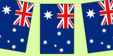 Australia Flag Display Bunting