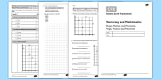 CfE Second Level Assessment Numeracy and Mathematics - Shape - Angle, Position and Movement - Angle and Scale