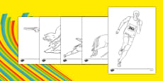The Olympics Pentathlon Colouring Sheets