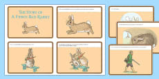 Beatrix Potter - The Story of a Fierce Bad Rabbit Story Cards