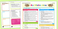 Mud Kitchen Area Continuous Provision Plan Posters Nursery FS1