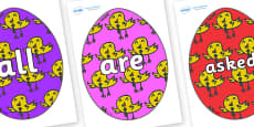 Tricky Words on Easter Eggs (Chicks)