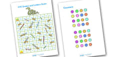 Snakes and Ladders CVC (1-100)