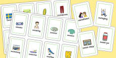 Two Syllable 'SW' Flash Cards
