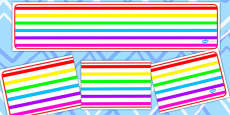Rainbow Themed Editable Banner