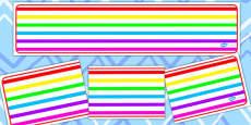 Rainbow Themed Editable Banner