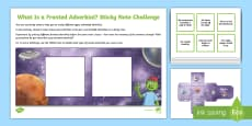 What Is a Fronted Adverbial?: Sticky Note Challenge Activity
