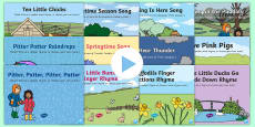 * NEW * Bumper Spring Songs and Rhymes PowerPoints Pack
