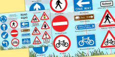 British Road Signs Large Poster