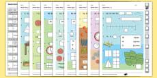 Year 1 Maths Quiz Challenge 3 Activity Sheet Pack