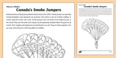 Alberta's Wildfire Smoke Jumper Colouring Page