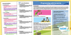 CfE Programming with ScratchJnr Year 1   Early First Level Overview