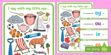 * NEW * I Spy Phase 5 Set 1 Graphemes Activity