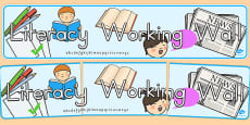 Literacy Working Wall Display Banner - Australia