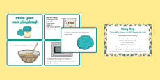 EYFS The Three Billy Goats Gruff Playdough Troll Busy Bag Prompt Card and Resource Pack