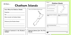 All About Chatham Islands Writing Frame
