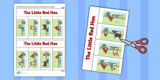 The Little Red Hen Story Writing Flap Book