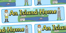 An Island Home Display Banner to Support Teaching on Katie Morag