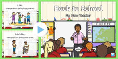 * NEW * Back to School: My New Teacher Early Level PowerPoint