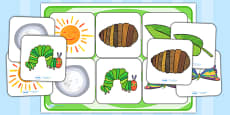 Matching Cards and Board to Support Teaching on The Very Hungry Caterpillar