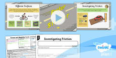 PlanIt - Science Year 3 - Forces and Magnets Lesson 2: Faster and Slower Lesson Pack