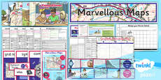 PlanIt - Geography Year 5 - Marvellous Maps Unit Pack
