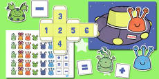 Australia - Alien Counting Activity to Support Teaching on Aliens Love Underpants