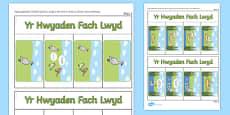 Llyfr Ysgrifennu Stori Yr Hwyaden Fach Lwyd Cymraeg Welsh / Cymraeg