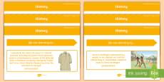 * NEW * Year 5 Australian HASS History Content Descriptor Statements Display Pack