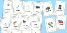 Two Syllable 'SN' Flash Cards