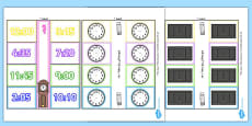Time Writing Clocks Foldable Visual Aid Template Arabic