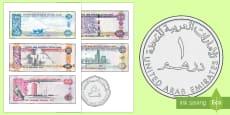 UAE Money Cut-Outs