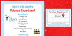 Don't Slip Santa! Science Experiment
