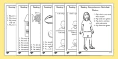 Reading Comprehension Activity Sheets Higher Ability
