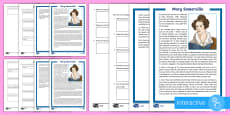 Scottish Scientist Mary Somerville Differentiated Comprehension Go Respond Activity Sheets