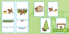 Where Is the Puppy? Positional Language Picture Cards