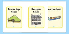 Homes Through the Ages Timeline Cards