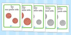 British (UK) Coin Display Posters