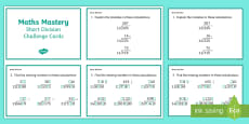 Year 6 Calculation Short Division Maths Mastery Challenge Cards