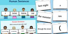 Human Sentences a Sentence Ordering Game