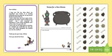 A New Broom Counting Spell Resource Pack  to Support Teaching on Room on the Broom