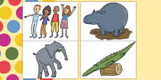 Story Cut Outs to Support Teaching on The Enormous Crocodile