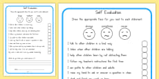 Self Evaluation Sheet