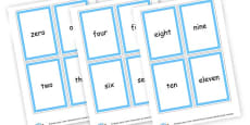 0-20 Numbers and words Cards
