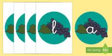 Tarjetas de fonemas: Uvas