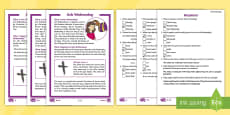 * NEW * KS1 Ash Wednesday Differentiated Comprehension Go Respond Activity Sheets