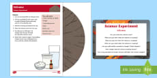 EYFS Volcano Science Experiment and Prompt Card Pack